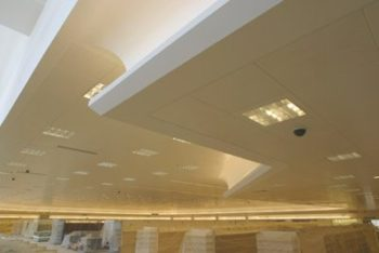 Down ceiling installation West Midlands | Image showing a Taylor Hart installed ceiling